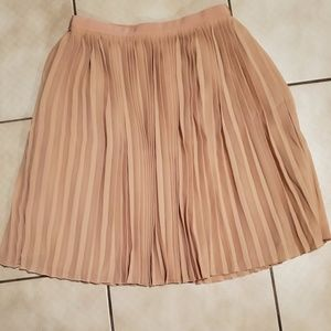 J.Crew Pleated Skirt in Dusty Rose